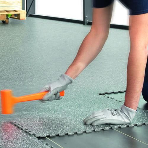 piastrella flessibile in vinile / da interno / per pavimento / aspetto cemento colorato