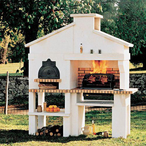 barbecue a legna / fisso / in ghisa / in calcestruzzo