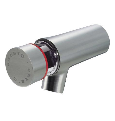 miscelatore per lavabo / da parete / in acciaio inossidabile / temporizzato