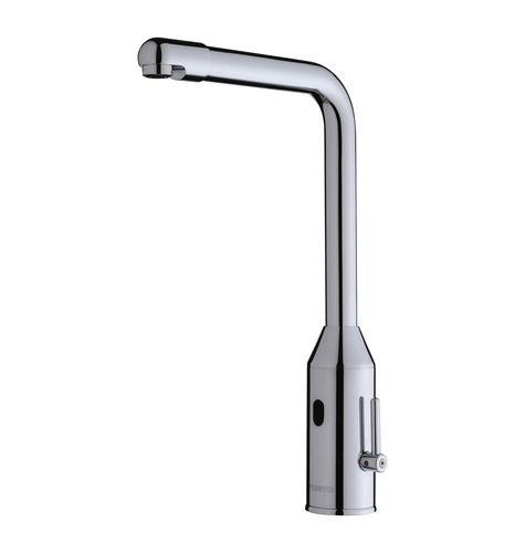 miscelatore per lavandino / in metallo cromato / elettronico / da bagno