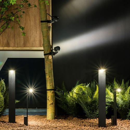 lampioncino da giardino / moderno / in alluminio / in vetro opalescente