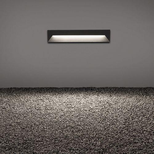 luce da incasso a muro / LED / lineare / quadrata