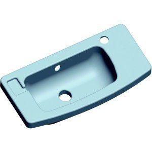lavandino sospeso / rettangolare / in resina / contract