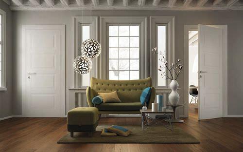 porta da interni / battente / in legno