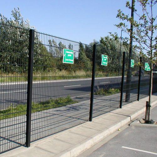 recinzione industriale / a maglia saldata / in acciaio / ad alta sicurezza