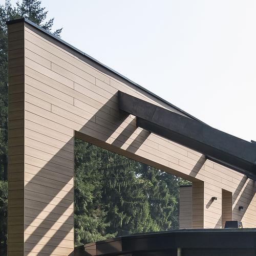 rivestimento di facciata in fibra di legno / liscio / naturale / in pannelli