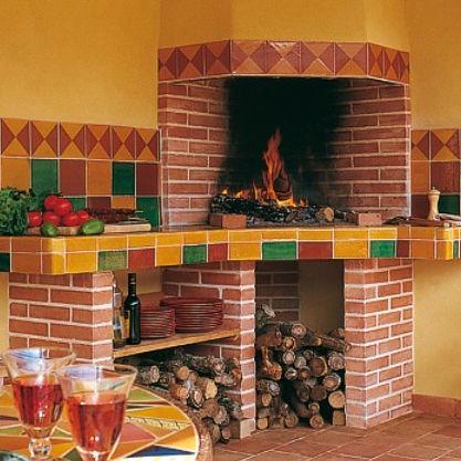 mattone refrattario / per pavimento / a muro / rosso