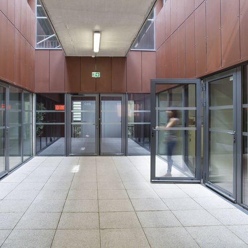 porta d'ingresso / battente / in alluminio / di sicurezza