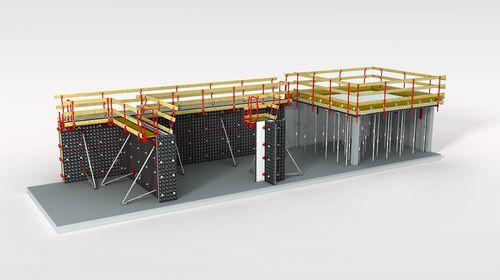 cassaforma modulare / in metallo / per muro / per colonna