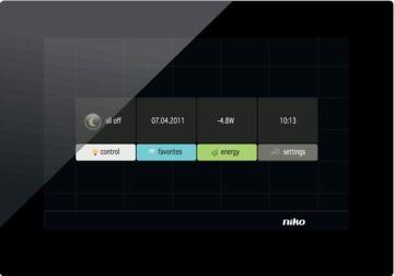 touch screen per sistema domotico multifunzione / da parete