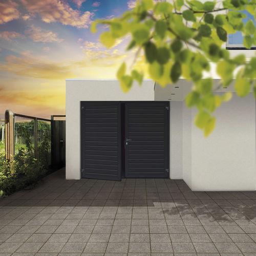 porta battente per garage / in acciaio / in schiuma di poliuretano / manuale