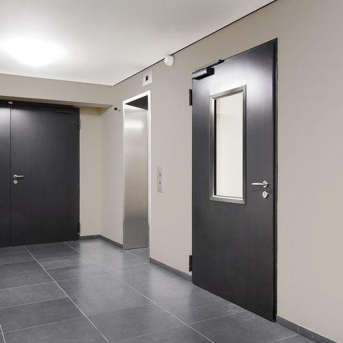 porta da interni / battente / in acciaio / acustica