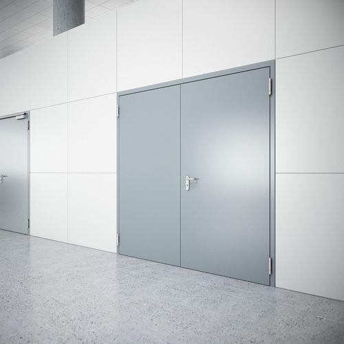 porta da interni / battente / in acciaio inox / in acciaio galvanizzato