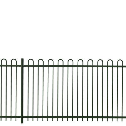 recinzione da giardino / a sbarre / in acciaio galvanizzato