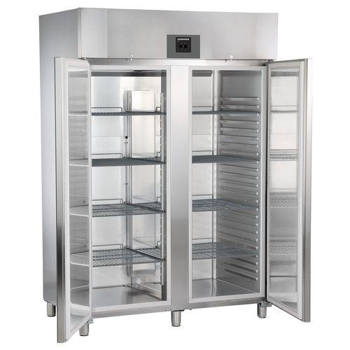 frigorifero ad armadio / grigio / in acciaio inox