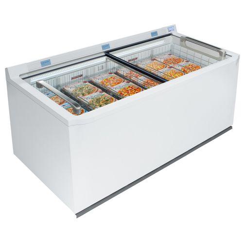 congelatore a pozzetto / professionale / vetrato / bianco
