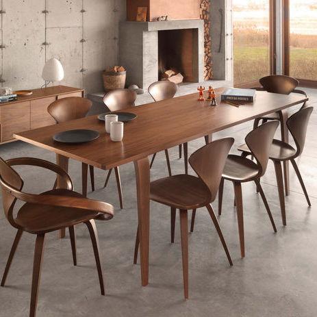 tavolo moderno / in noce / in compensato stampato / rettangolare
