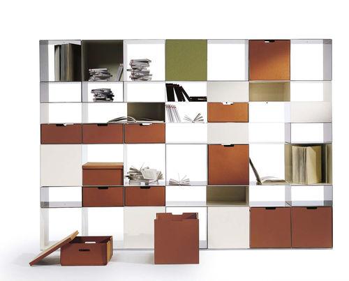scaffale modulare / moderno / in metallo / in vetro
