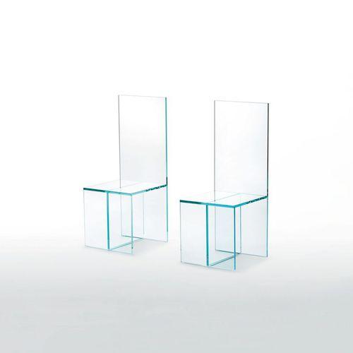sedia moderna / in vetro / trasparente