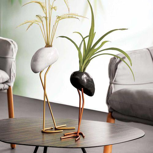 vaso design originale / in acciaio con rivestimento a polvere / polimerico