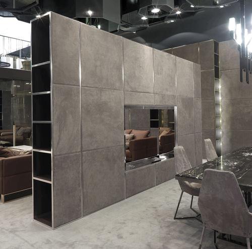 pannello decorativo in legno / in alluminio / per muro / levigato