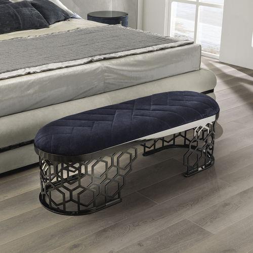divanetto imbottito moderno / in metallo / da interno
