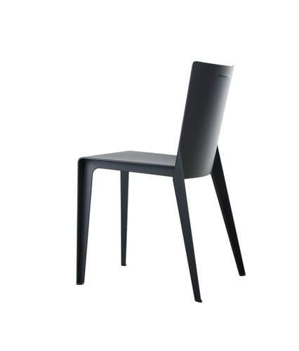 sedia moderna / in composito / grigia / beige