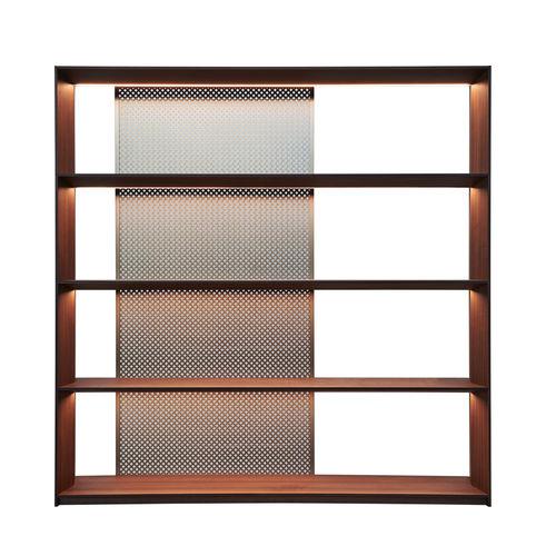 libreria moderna / in legno / in alluminio