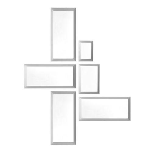 specchio a muro / moderno / rettangolare / in legno massiccio