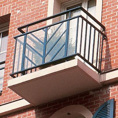 ringhiera in alluminio / pannelli in vetro / a sbarre / da esterno