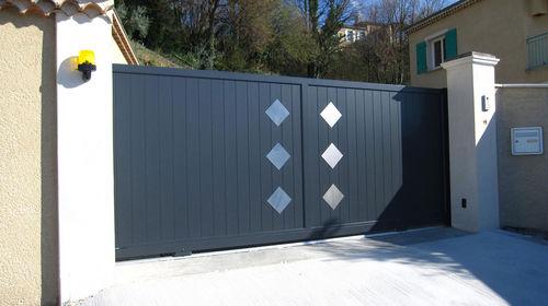 cancello battente / scorrevole / in alluminio / in acciaio inox