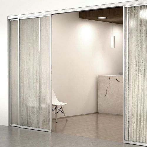 porta da interni / scorrevole / in vetro