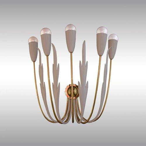 applique Art Deco / in ottone / LED / a candelabro
