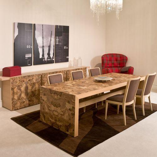 tavolo da pranzo moderno / in noce / in ciliegio / rettangolare
