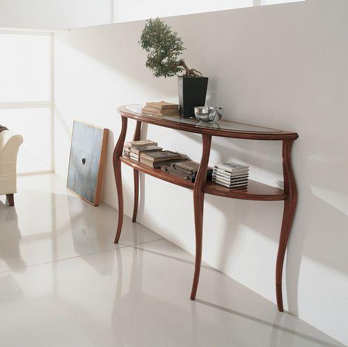consolle in stile / in legno / in cristallo / a mezzaluna