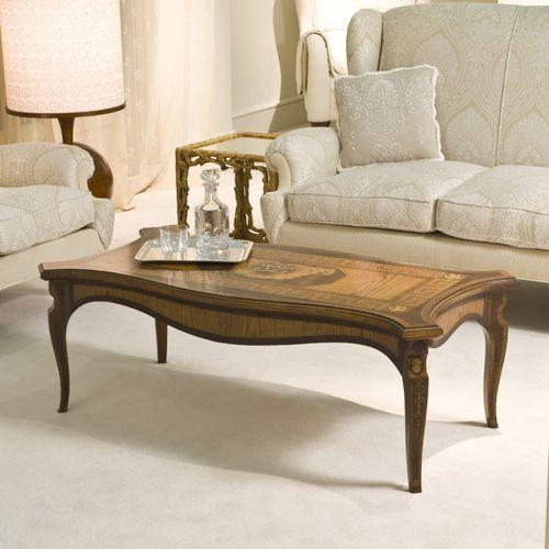 tavolino basso in stile Impero / in legno / rettangolare / da interno