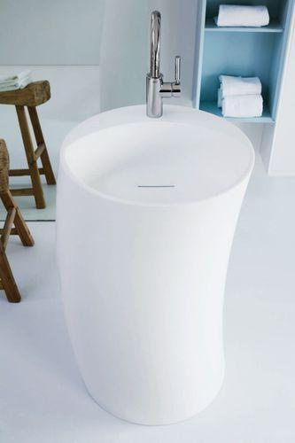 lavabo da terra / in Solid Surface / design originale / contract