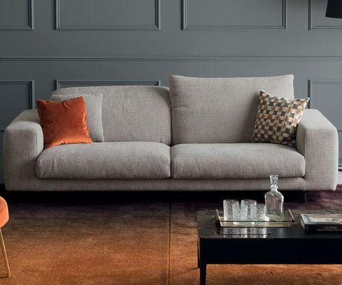 divano moderno / in tessuto / 2 posti / con poggiatesta