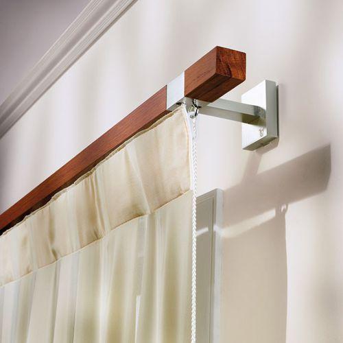 bastone per tende in alluminio / in legno