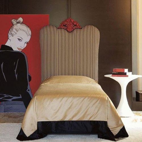 letto singolo / design nuovo barocco / in tessuto