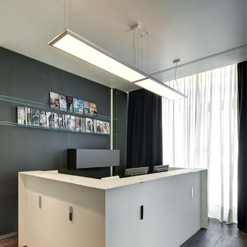 luce a sospensione / da incasso a soffitto / LED / quadrata