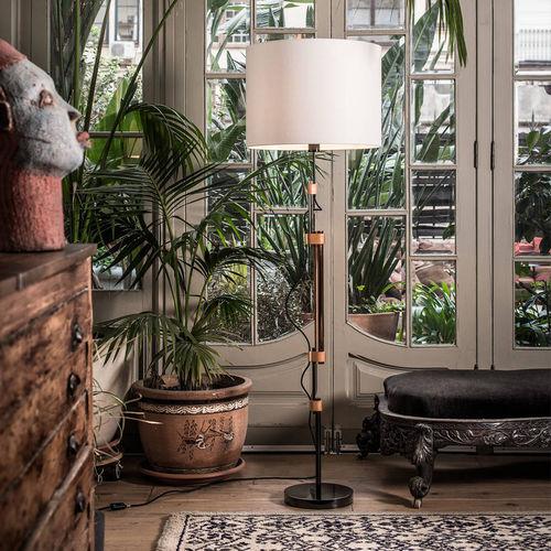lampada da terra / moderna / in acciaio / in nichel