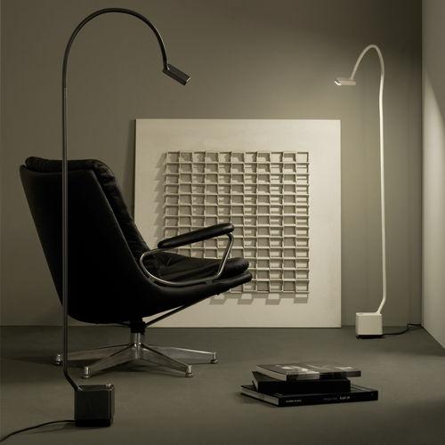lampada da terra / design originale / in metallo / in PVC