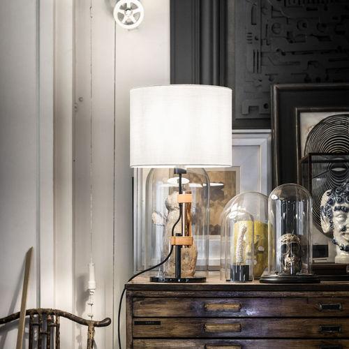 lampada da tavolo / moderna / in nichel / in rame