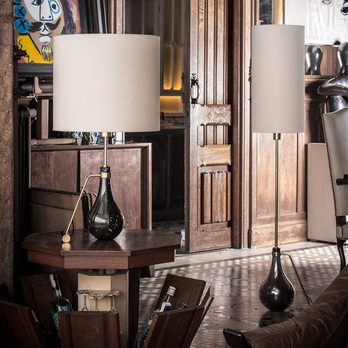 lampada da tavolo / classica / in ottone / in nichel