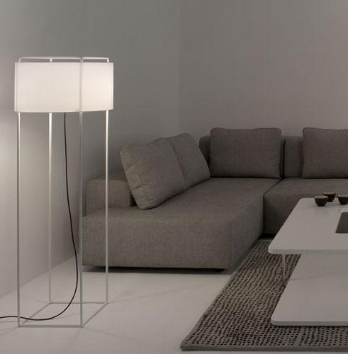 lampada da terra / moderna / in metallo / in tessuto