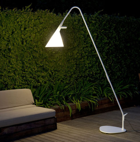 lampada da terra / moderna / in acciaio / in polietilene
