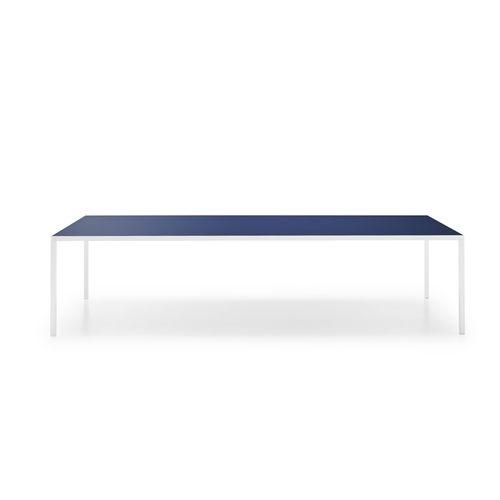 tavolo moderno / in vetro temprato / in alluminio / in ceramica
