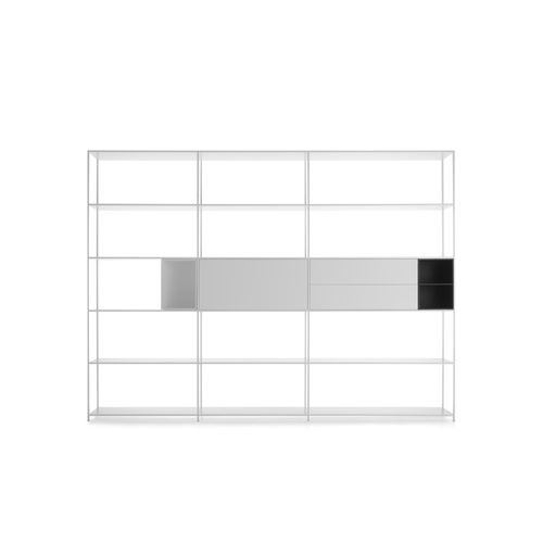 scaffale modulare / moderno / in MDF laccato / in alluminio