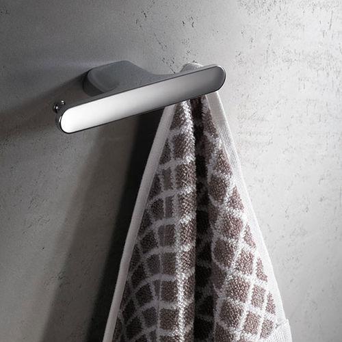 appendiabiti da parete moderno / in metallo cromato / doppio / da bagno